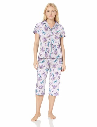 Karen Neuburger Women's Petite Short-Sleeve Pajama Set PJ with Moisture Wicking Technology