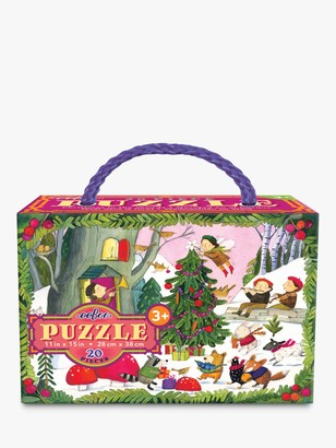 Eeboo Christmas in the Woods Glitter Jigsaw Puzzle