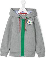 Fendi pinstripe trim hoodie