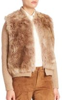 Polo Ralph Lauren Rib-Knit Shearling-Front Sweater