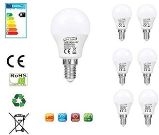 Tech Traders P45 LED Golf Ball Light Bulbs, E14, 5 W, Cool White