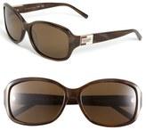 Kate Spade 'annika' 56mm Polarized Rectangular Sunglasses