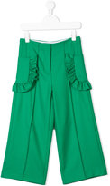 Marni ruffled detail trousers