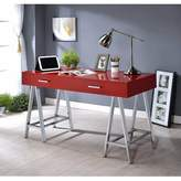 Bronx Mcnaughton Office Desk Ivy Color: Red