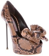 Gianmarco Lorenzi Collector python skin pump