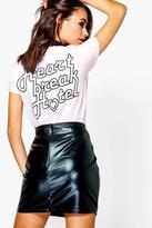 Boohoo Lisa Heartbreak Printed T-Shirt