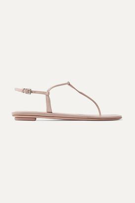 Prada Patent-leather Sandals - Neutral