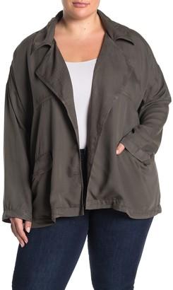 Caslon Open Front Utility Jacket (Plus Size)
