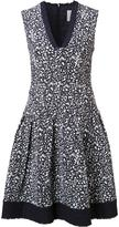 Carolina Herrera brush splatter print dress