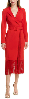 Badgley Mischka Fringe Midi Dress