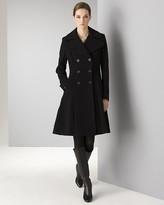 Women's Double Breasted Wool-Blend Coat
