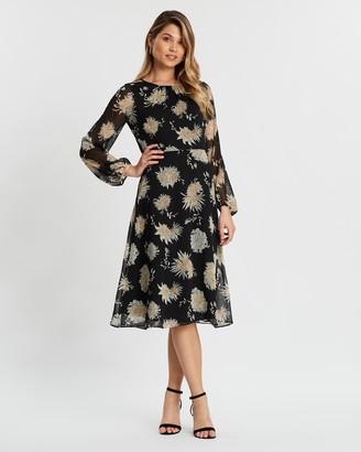 Wallis Oriental Floral Midi Dress