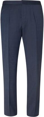 HUGO BOSS Navy Bryder Slim-Fit Virgin Wool Suit Trousers