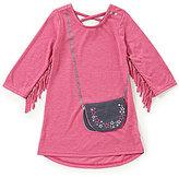 Jessica Simpson Little Girls 2T-6X Fringe Purse-Applique Dress