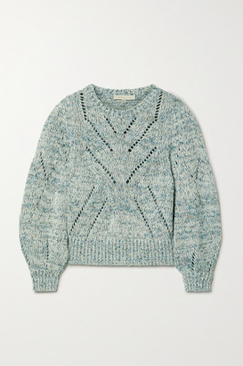 Vanessa Bruno Norren Cropped Cotton-blend Sweater - Turquoise
