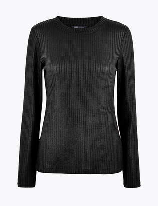 M&S CollectionMarks and Spencer Fitted Long Sleeve Top