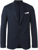 Neil Barrett pocket square blazer - men - Cotton/Polyester/Spandex/Elastane/Viscose - 48