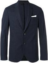 Neil Barrett pocket square blazer - men - Cotton/Polyester/Spandex/Elastane/Viscose - 50