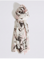 M&S Collection Marble Shimmer Print Scarf