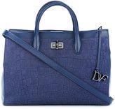 Diane von Furstenberg textured tote bag