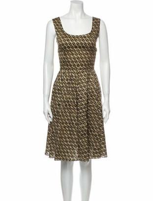 Dolce & Gabbana Animal Print Knee-Length Dress w/ Tags