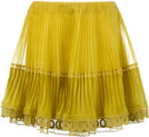 Chloé pleated mini skirt - women - Silk - 36