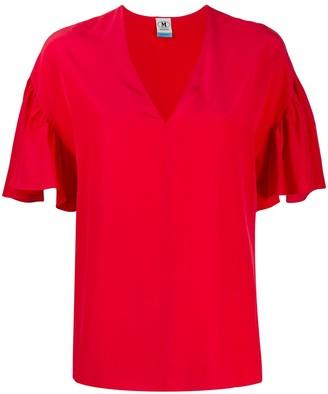 M Missoni gathered sleeve blouse