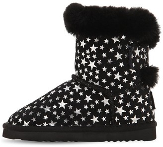 Colors of California Star Print Suede Boots