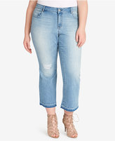 Jessica Simpson Trendy Plus Size Cherish Cropped Jeans