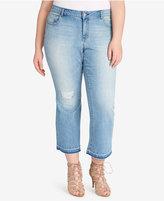 Jessica Simpson Trendy Plus Size Cherish Cropped Jeans