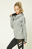 Forever 21 FOREVER 21+ Active Marled Hoodie