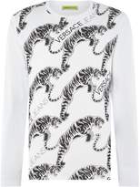 Versace Jeans All Over Tiger Print Long Sleeve T-shirt