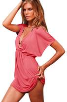 Bestgift Womens Deep-V Sexy Summer Holiday Cover Up Sun Swimwear Beachwear