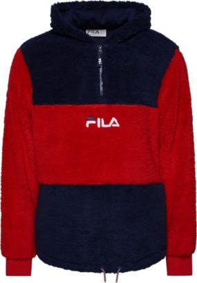 Fila Gelber 1/2 Zip Hoodie Sweatshirt - Peacoat / Chinese Red