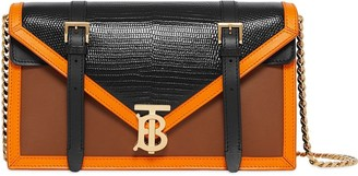 Burberry Small Embossed Leather TB Envelope Clutch
