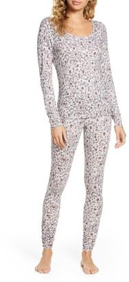 BP Hacci Knit Long Sleeve Top & Leggings Pajama 2-Piece Set