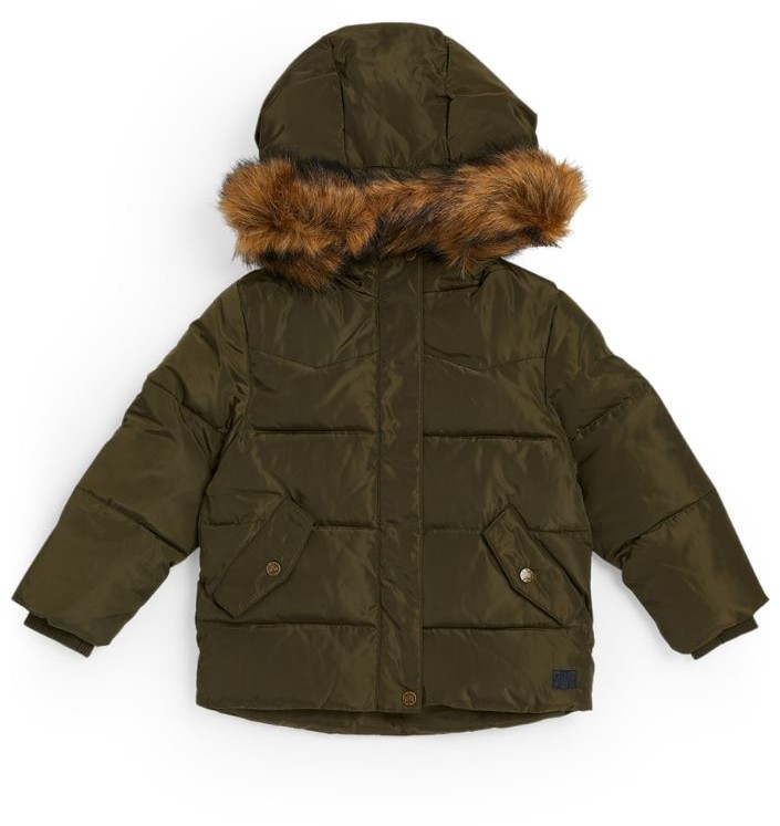 Bonton Hooded Puffer Coat (4-12 Years)