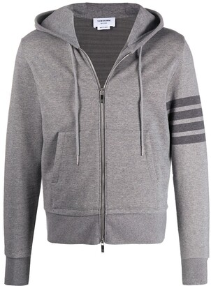 Thom Browne Cotton Zip-Up Hoodie
