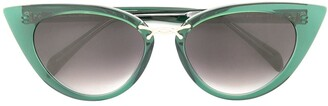 Oscar de la Renta Rectangle Cat-Eye Sunglasses