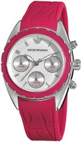 Emporio Armani Women's AR5937 Sport Silver Chronograph Dial Watch