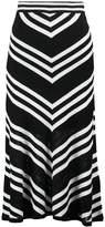 Warehouse Aline skirt black/white