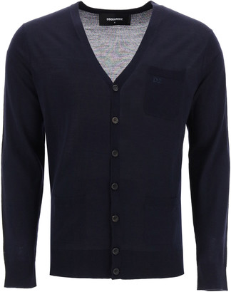 DSQUARED2 Cardigan With Embroidered Logo
