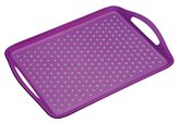 Kitchen Craft Colourworks Non-Slip Plastic Serving Tray by KitchenCraft, 41 x 28.5 cm (16 x 11 Inches) - Purple