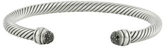 David Yurman 5 mm Cable Classic Bracelet (Black Diamonds)