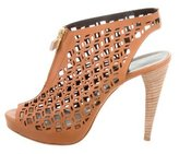 Pierre Hardy Peep-Toe Laser Cut Booties