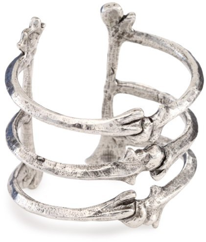 Low Luv x Erin Wasson by Erin Wasson Silver-Tone Triple Bone Cuff Bracelet