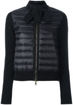Moncler padded front tie collar jacket - women - Cotton/Nylon/Polyamide - XS