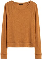 Banana Republic Linen Raglan Cropped T-Shirt