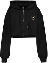 Thumbnail for your product : adidas by Stella McCartney Cotton-blend cropped hoodie