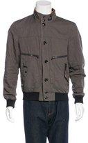 Hogan Linen-Blend Bomber Jacket